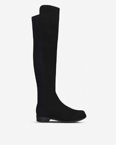 5050 suede heeled over-the-knee boots