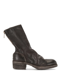 zip-up leather ankle boots