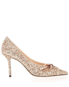 WOMEN'S SCARLETTE85QWSGOLDIENUDEO GOLD LEATHER PUMPS