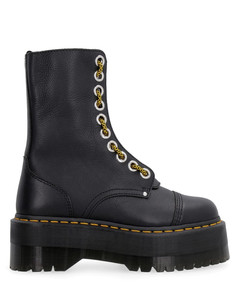 40mm Platform Leather Ankle Boots