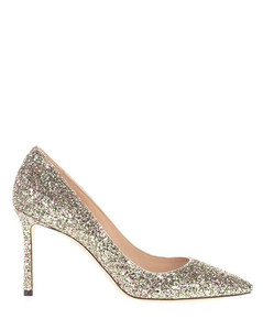 WOMEN'S ROMY85CGFPEPPERMINT SILVER FABRIC PUMPS