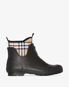 black Flinton Vintage check ankle boots