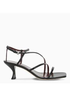 Black Amelie medium sandals