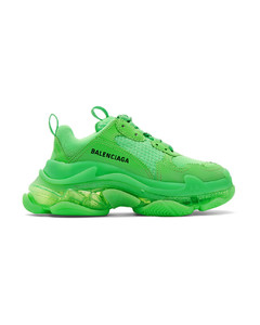 绿色Triple S运动鞋
