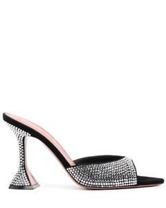 皮革芭蕾舞鞋式高跟鞋