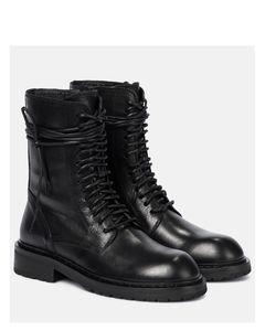 黑色五金皮革凉鞋