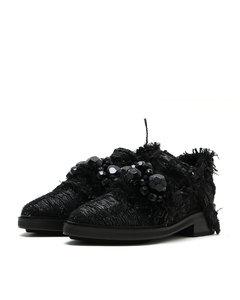 Lurex tweed loafers