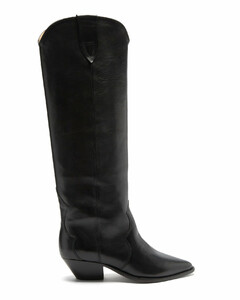 Denvee point-toe leather knee-high boots