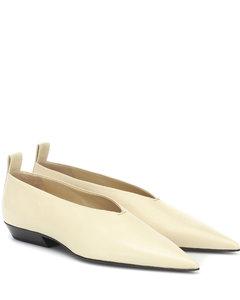 皮革芭蕾舞平底鞋