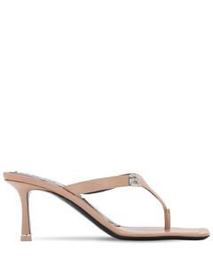 65mm Ivy Embellished Leather Sandals