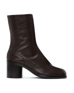 SSENSE发售棕色Tabi Vintage踝靴