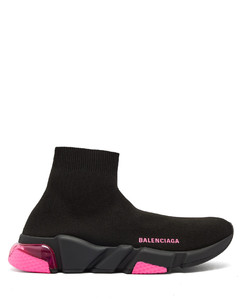 Speed bubble-heel high-top sock trainers