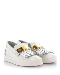 Slip-on Sneaker Naomi leather white gold