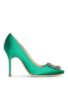 Hangisi 105 emerald satin pump