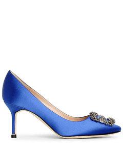 Hangisi 70 Royal blue satin pumps