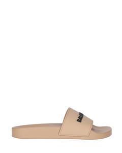 Nicky Croc-effect Leather Slingback Platform Sandals