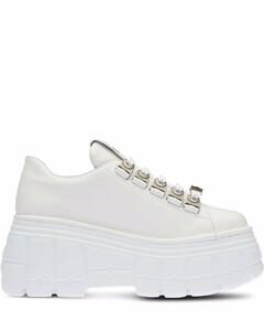 Elyse系带坡跟鞋