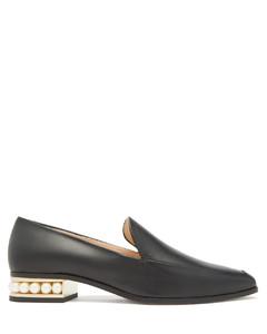 Casati pearl-heel leather moccasins