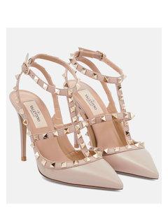 Valentino Garavani Rockstud皮革高跟鞋