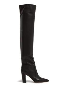 Nappa 85 block-heel leather boots