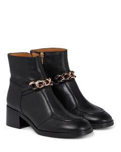 Mahe皮革及踝靴