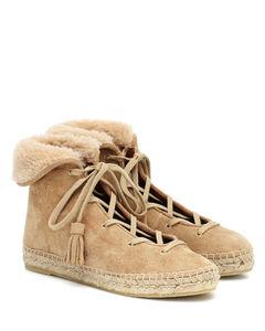 Gus绒面革草编鞋风格及踝靴