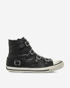 Virgin leather high-top trainers
