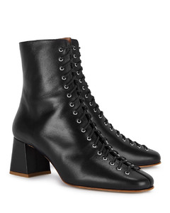 Becca 65 black leather ankle boots
