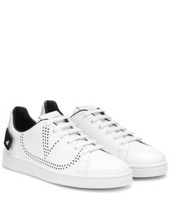 Garavani BACKNET皮革运动鞋