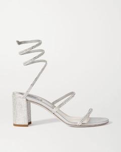 Cleo水晶缀饰缎布凉鞋