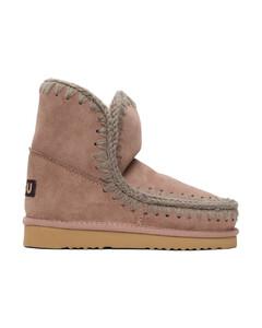 粉色18踝靴