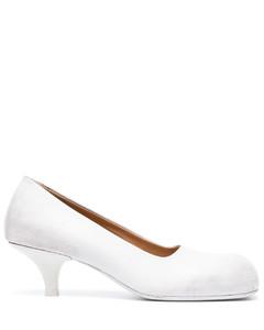 人造珍珠缀饰皮革软壳面料踝靴