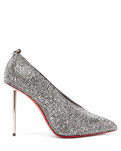 Et Pic Et 100 high-cut crystal and leather pumps