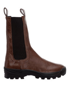 WOMEN'S L814466X082530 BROWN LEATHER FLATS