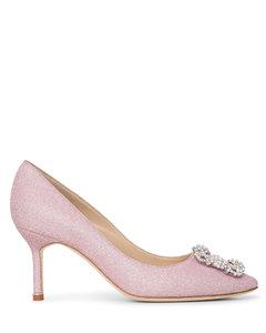 Hangisi 70 light pink glitter pumps