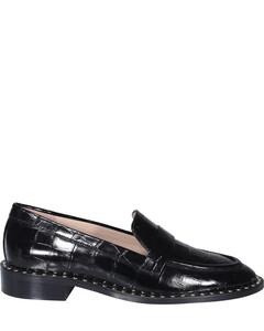 Embossed Stud-Detailed Loafers