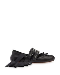 belted ballerina shoes