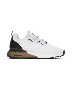 白色ZX 2K Boost运动鞋