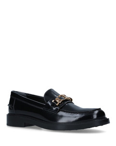 Leather T Chain Loafers