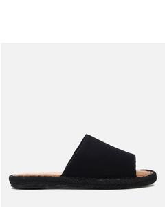 Women's Clarita Suede Slide Espadrille Sandals - Black