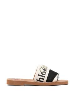 Woody logo flat sandals