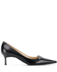 pointed leather pumps