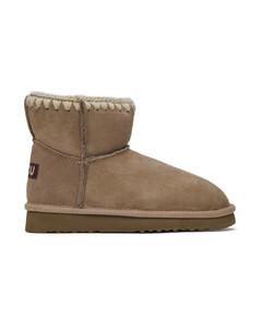 灰色Classic踝靴
