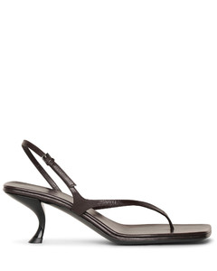 Constance mocha leather sandals