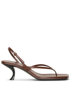 Constance walnut leather sandals