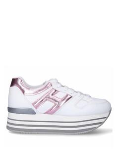 Low-Top Sneakers H283 HOGAN MAXI Logo pale pink white