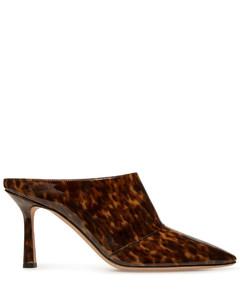粗链双带高跟凉鞋