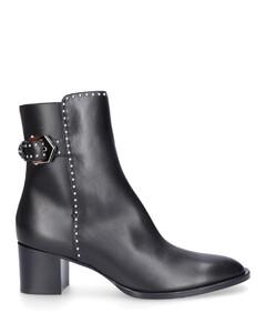 Ankle Boots BE601D40 calfskin Logo Rivets black