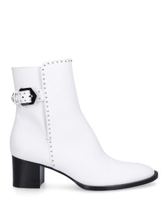 Ankle Boots BE601D40 calfskin Logo Rivets white