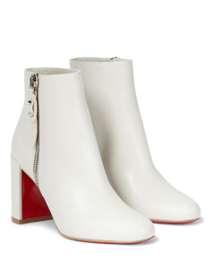 Ziptotal 85 leather ankle boots